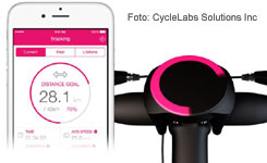Abblidung zeigt die Fitness-Tracker Funktion des SmartHalo